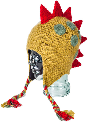 Teen or Adult Fair Trade, Hand Knit Animal Hat Dino
