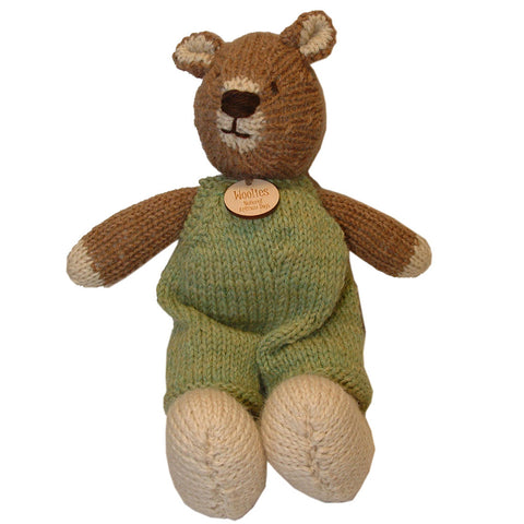 Heirloom Quality Handcrafted Knit Wool Teddy Bear