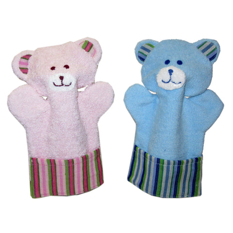 Bath Time Friends - Children's Animal Washcloth Bears