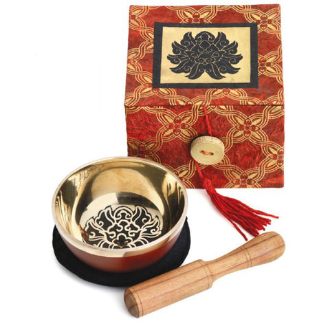 Black Lotus Meditation Bowl Box