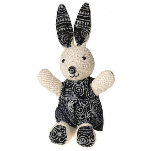 Handcrafted Batik Bunny Toy or Easter Decoration
