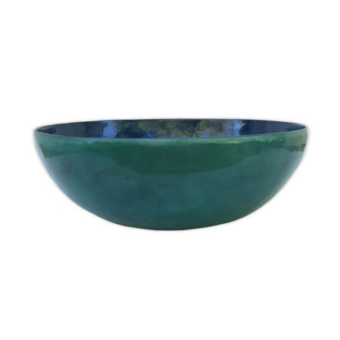 Fair Trade Capiz Shell Bowl – Water Blue