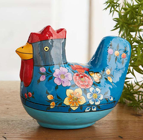 Decorative Blue Chicken Trinket Box