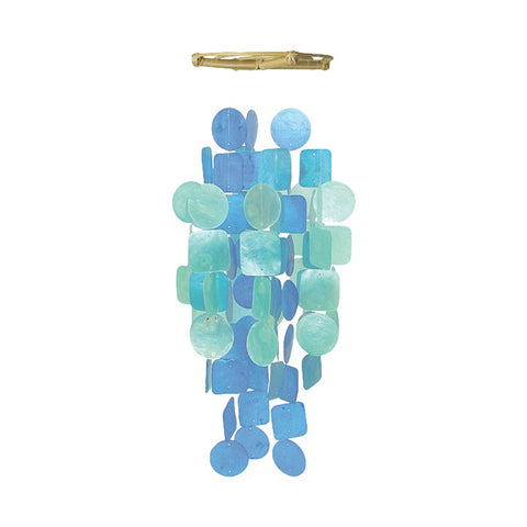 Capiz Shell Chime – Blue Turquoise Medium