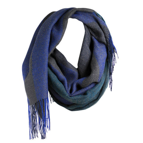 Multi-Colored Alpaca Scarves Singing the Blues