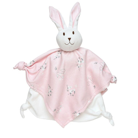 Organic Bunny Blanket Teething and Snuggle Toy