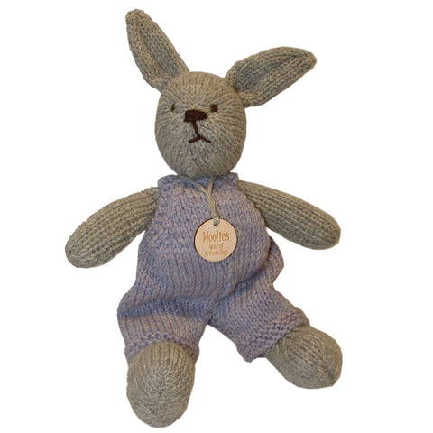 Hand Knit Wool Bunny - Made in the USA