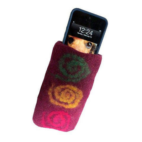 Hand Felted Sunglass/Reading Glasses, Cell or Camera Case