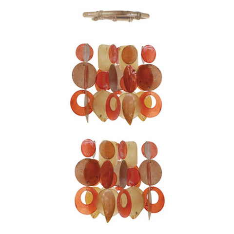 Capiz Shell Chime - Small Chandelier Autumn