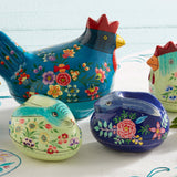 Big Blue Chicken Trinket Box with other Easter boxes