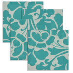 Fabric Coaster Set of 4 Turquoise