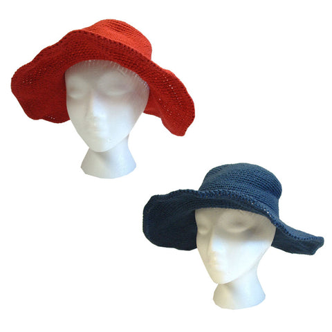 Cotton Wide Brim Sun Hat