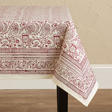 Cranberry Vine Table Cloth