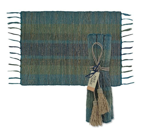 Vetiver Placemat Set of 6 - Forest Deep