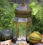 Intricately Detailed Dome Iron Lantern