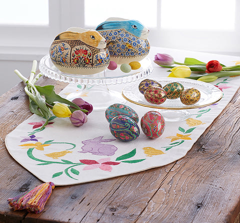 Embroidered Easter/Spring Table Runner