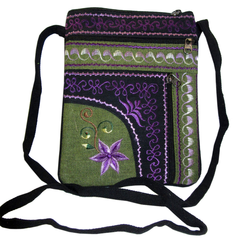a94f5028b8b2 Embroidered Cotton Passport Bag