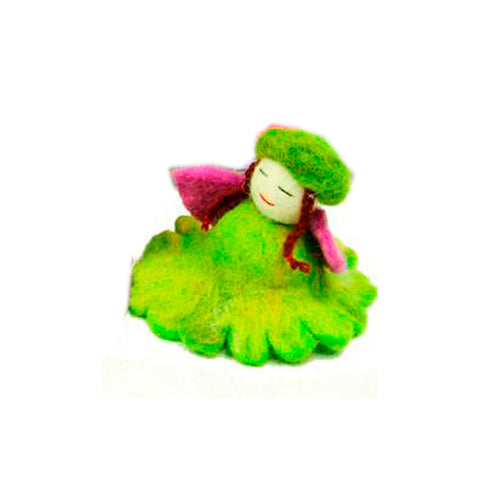 Felted Forest Flower Fairies Green
