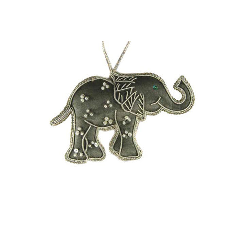 Heirloom Quality Handcrafted Grey Elephant Ornament