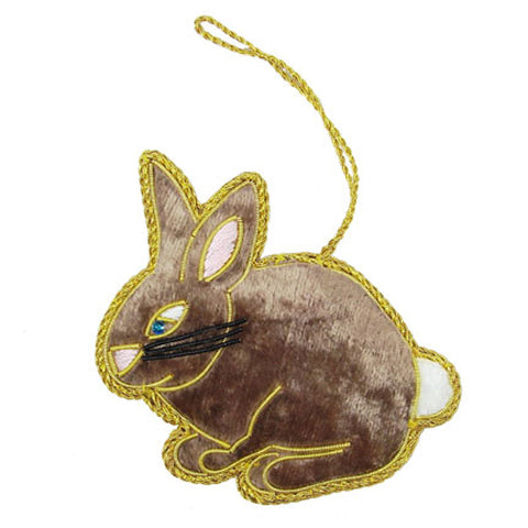 Heirloom Quality Handcrafted Velvet Bunny Ornament