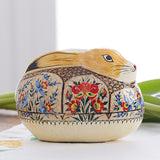 Large Gold Bunny Decorative Trinket Box