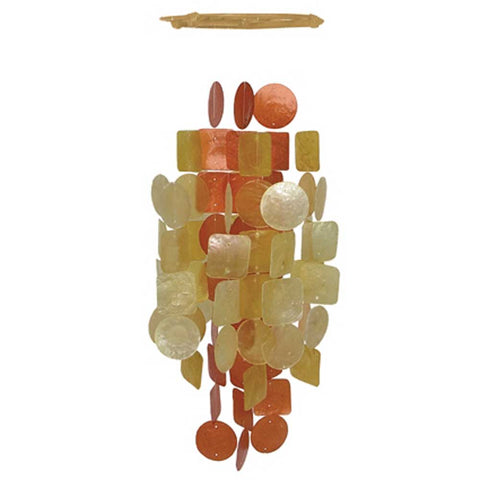 Capiz Shell Chime – Red Orange Medium