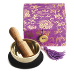 "Mini Meditation Bowl Gift Box: 2"" Purple Lotus"