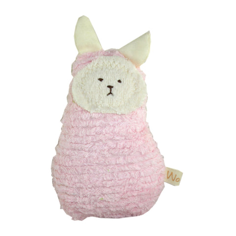 Heirloom Quality Chenille Sherpa Mini Bunny Pink