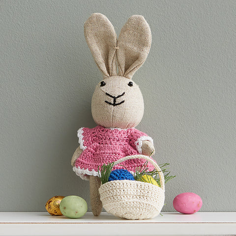 Handcrafted Little Miss Easter Bunny - Fair Trade