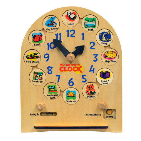 My Activity Clock for Toddlers - USA