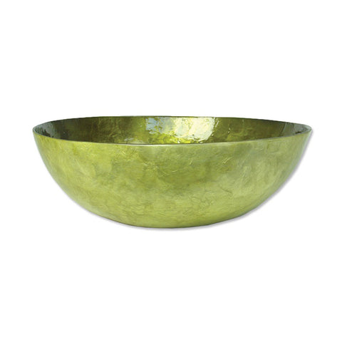 Fair Trade Capiz Shell Bowl – Olive