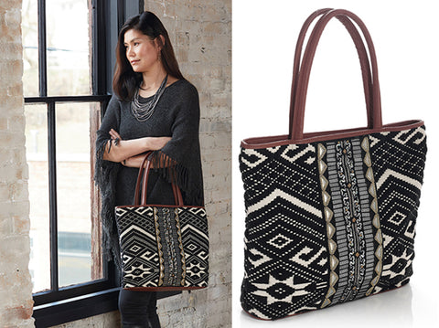 On the Town Jacquard Tote Bag