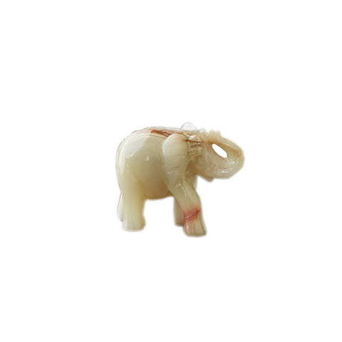 Hand Carved Onyx Elephant Child (small)