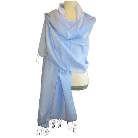 Luxurious Shawl Baby Blue