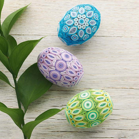 Quilled Easter Eggs - Pastel