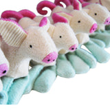 Organic Handcrafted Plush Pig Toy American Made