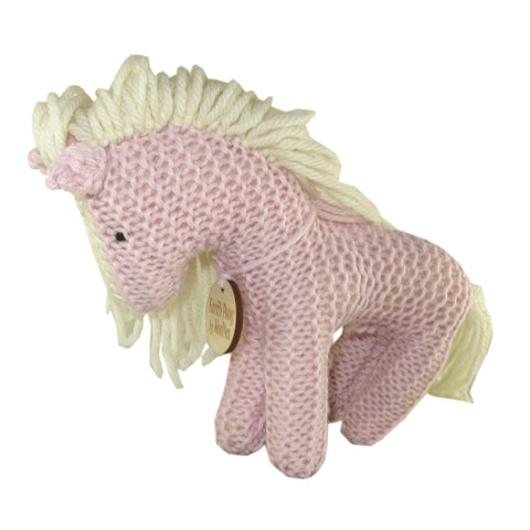 Handcrafted Pastel Earth Pony Plush Toy Pink