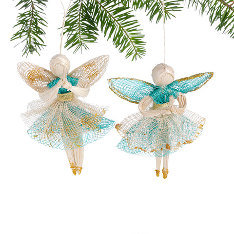 Praying Angels Ornament Set of Two