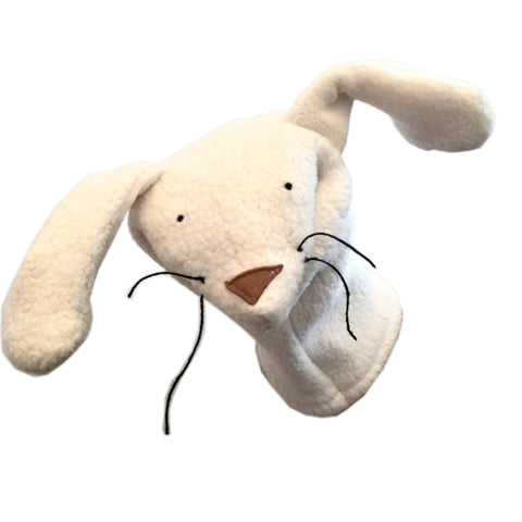 Handcrafted Organic Sherpa Hand Puppet Bunny