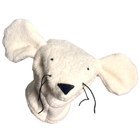 Handcrafted Organic Sherpa Hand Puppet Mouse