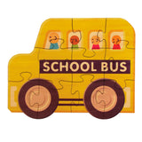 School Bus Shaped Jigsaw Puzzle