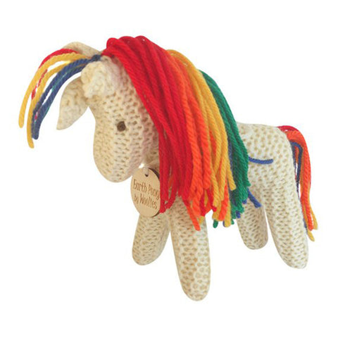 Handknit Rainbow Unicorn Plush Toy