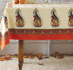 Bright Floral and Paisley Table Cloth