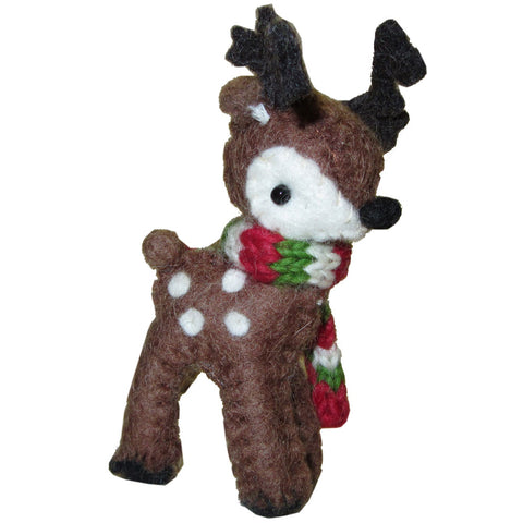 Sweet Baby Reindeer Ornament - Brown