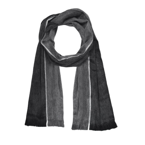 Luxuriously Soft Alpaca Winter Scarves Shale Black Grey