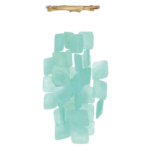 Capiz Shell Wind Chime - Small Turquoise