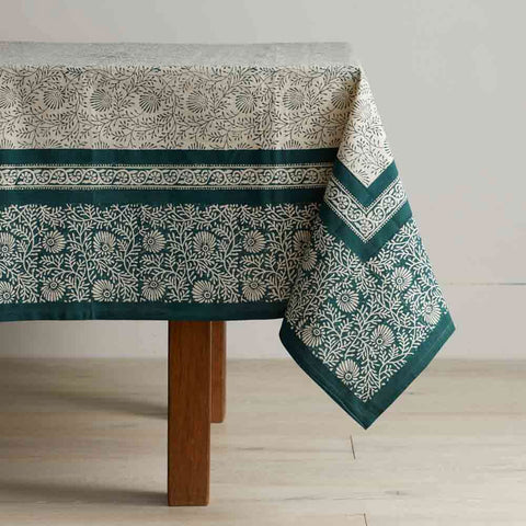 Fair Trade Table Cloth - Spruce Wildflower