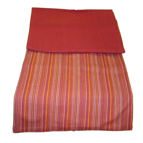 Striped Woven Cotton Table Runner