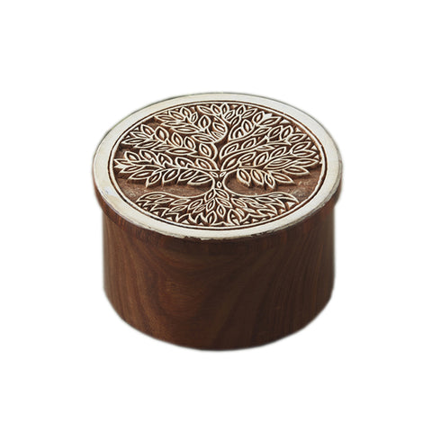 Tree of Life Block Print Box - Shesham Wood