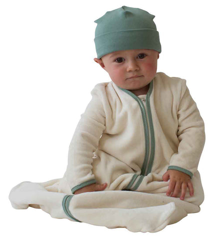 Organic Long Sleeve Velour Newborn Cozie Sack Made in the USA